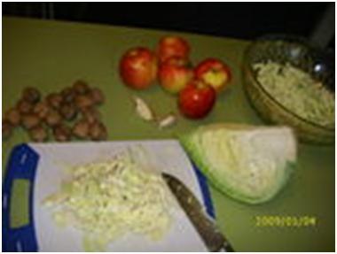 капуста для салата из капусты с яблоками
