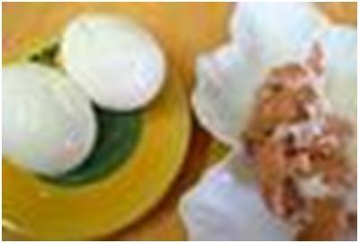 яйца для салата из тыквы и брюссельской капусты