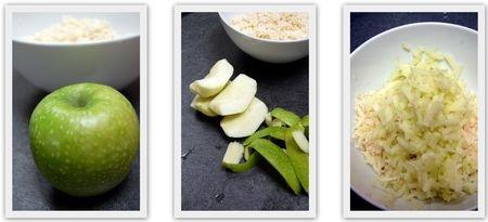 яблоко для салата из цветной капусты и зеленого яблока